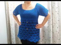 Motivo tejido a crochet # 1, especial para blusas y ponchos a crochet - YouTube