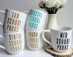 12 oz. glossy white coffee/tea mug. Looking for a great gift for a white coat ceremony or just to celebrate someone conquering a huge