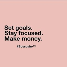 Goals for next week? Check.  Join us in the Academy! bossbabe.co  #BOSSBABE