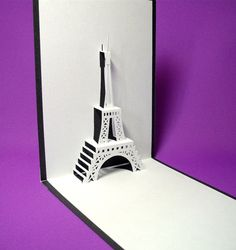 Eiffel Tower 2 in Paris Pop Up Card on Etsy, $6.50