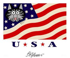 Kliban Cats Dedicated to the USA Olympic Team I Love Cats, Cool Cats, Kliban Cat, Cat Comics, Cat Character, Here Kitty Kitty, Calvin And Hobbes, Cat Drawing, Whimsical Art
