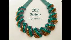 Flat Cellini Stitch Beaded Necklace ( Super Easy Tutorial) 👍🏻