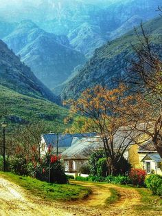 Greyton, Western Cape - South Africa. A wonderful hiking trail starts just behind the town and goes up the Riviersonderend mountain range towards McGregor.