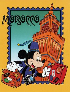 Mickey in Morocco postcard | Flickr - Photo Sharing!