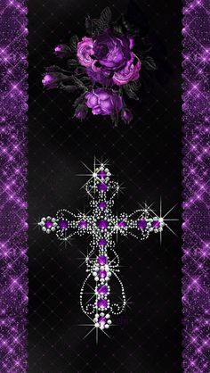 Cross Wallpaper, Gothic Wallpaper, Purple Wallpaper, Wallpaper Ideas, Wallpaper Backgrounds, Boss Up Quotes, Cross Pictures, Purple Things, Pretty Wallpapers