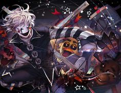 The Puppet / Marionette from FNaF. the only artwork that was ever featured the longest on deviantart as number for seven days straight :') Anime Fnaf, Fanarts Anime, Anime Guys, Anime Art, Five Nights At Freddy's, The Puppeteer Creepypasta, Human Puppet, Fnaf Characters, Fnaf Sister Location