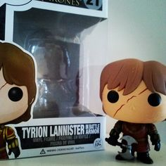 ... and I couldn't just buy one... so my second GoT Funko... Mr. T.Lannister in battle armor with scar!  #gameofthrones #got #takethethrone #twoswords #funko #funkopop #popvinyl #tyrion #lannister #stark #tyrionlannister #gameofthronesfamily #housestark #houselannister #popinabox #WinterIsComing #FireAndBlood #toys #toycollector #collection #figurine
