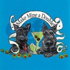 Double the fun!  Angus and Fergus keep me hopping!!