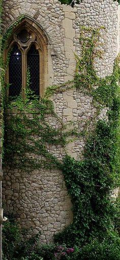 Stone tower window