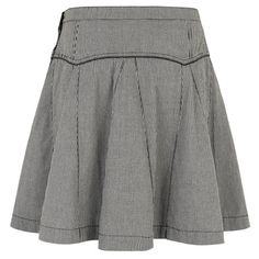 Susie Pleated Skirt Check Black by Merci