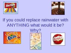 This powerpoint is designed to be a fun activity to start or end a lesson about weather. The students are asked if they could replace rain with anything what would it be and why. This is then followed by a series of countdown style quizzes Weather And Climate, Quizzes, Fun Activities, Students, Rain, Style, Rain Fall, Swag, Quizes