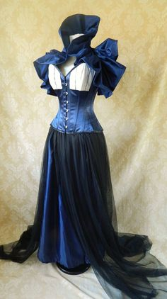 Doctor Who Tardis Corset Costume OufitWhole by AliceAndWillow, $449.00
