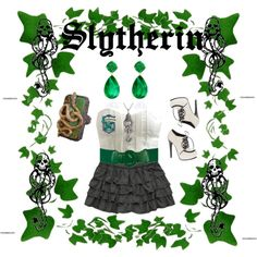 Slytherin, created by poisonenvy1821 on Polyvore