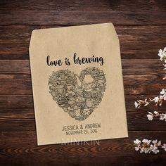 Tea Party Favors Tea Bag Favors Rustic Wedding Tea by MinikinGifts
