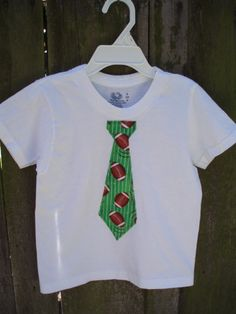 Tie t-shirt football themed $15  #football #etsy