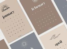 2020 Printable Calendar Modern Calendar Monthly Calendar | Etsy