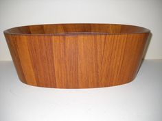 Dansk Designs Denmark Staved Teak Wood Bowl Jens by Modernaire