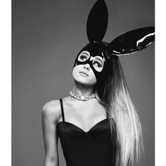 Ariana Grande ❤ liked on Polyvore featuring ariana grande, pictures, dangerous woman, girls and pictures black and white