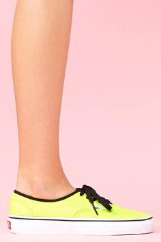 Authentic Sneaker in Neon Yellow