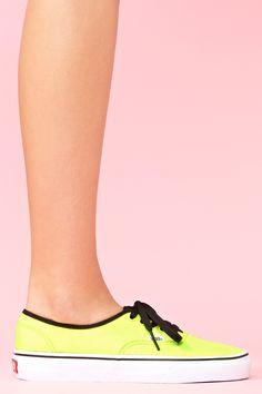 Authentic Sneaker in Neon Yellow