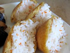 Inari ( cone sushi ) from Bread Without Butter: Hawaiian Food