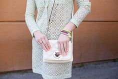 Stylish Outfit: Mint Green Lace | Stylelista Confessions