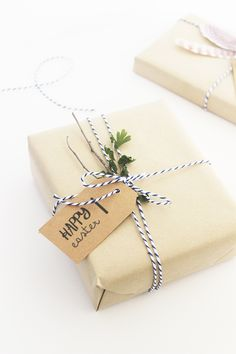 DIY // EASTER GIFT WRAPPING | include free easter tag printables