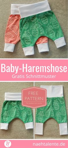 Freebook Baby-Haremshose ❤ Kostenloses Schnittmuster zum Ausdrucken ❤ leicht und einfach zu nähen ❤ 0 - 6 Monate ✂️ Nähtalente - Das Magazin für Hobbyschneider/innen ✂️Freebook for Baby-Harempants ❤ Free PDF sewing pattern for print at home ❤ easy and fast to sew ❤ 0 - 6 month ✂️ Nähtalente - Magazin for sewing and free sewing pattern ✂️ #nähen #freebook #schnittmuster #gratis #nähenmachtglücklich #freesewingpattern #handmade #diy