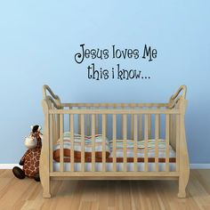 Hey, I found this really awesome Etsy listing at http://www.etsy.com/listing/95242006/jesus-loves-me-wall-decal-phrase-wall