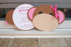 Monkey Around Invitation by bellybeancards on Etsy, $27.50