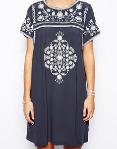 Little White Lies | Little White Lies Smock Dress With Embroidery at ASOS