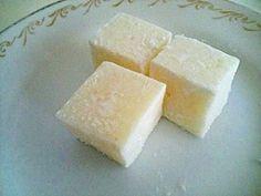 「もちちーず アレンジレシピ」こちらは卵黄を加えずに作ったヴァージョンです。見た目も白く、あっさりめですがより手軽につくれますよ~。【楽天レシピ】