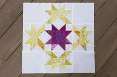 Radiant Splendor Quilt Block | This 1930s inspired block pattern is great for traditional quilting!