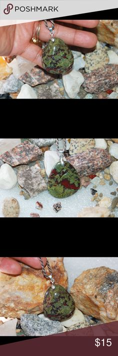"Earthy Natural Dragon Blood Jasper Pendant 1 3/4"" Natural Dragon Blood Jasper Pendant;Weight: 18.9945 gram;Length: 1 3/4"" handmade & handcrafted gemstone jewelry Jewelry Necklaces"