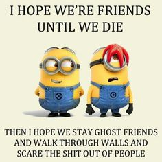I like the idea of being partners in crime even when were dead:)