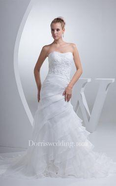 #Valentines #AdoreWe #Dorris Wedding - #Dorris Wedding Sleeveless Column Appliqued Appliques and Dress With Tiers - AdoreWe.com
