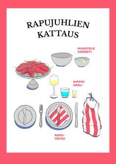 Rapujuhlien kattaus | K-ruoka Swedish Style, Rap, Celebrations, Party Ideas, Halloween, Drinks, Food, Fete Ideas, Eten