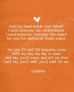Kingdom Come - Coldplay. Such a great song that got very little AirPlay. I heard Chris Martin wrote this for Johnny and June Cash. Not sure if that's true or not:)