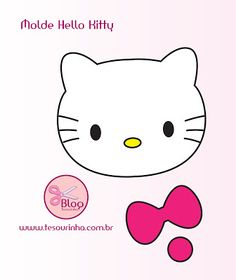 Tesourinha: Hello Kitty and like OMG! get some yourself some pawtastic adorable cat apparel! Bolo Da Hello Kitty, Hello Kitty Fotos, Hello Kitty Crafts, Hello Kitty Theme Party, Hello Kitty Themes, Hello Kitty Birthday, Anniversaire Hello Kitty, Hello Kitty Pictures, Felt Patterns