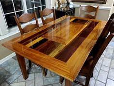 Awesome Homemade Wood Table
