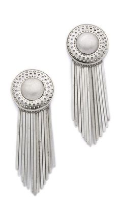 Bold earrings take any outfit to the next level. Shopbop.com -- Sam Edelman Fringe Disc Earrings