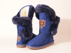 """Chicago Bears Women's Cuce Official NFL """"Champions"""" Boots"""