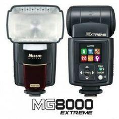 Flash Nissin MG 8000 Extreme, el flash mas potente de Nissin para Canon o Nikon, destinado a profesionales o aficionados que deseen un flash potente, fiable y robusto al mejor precio