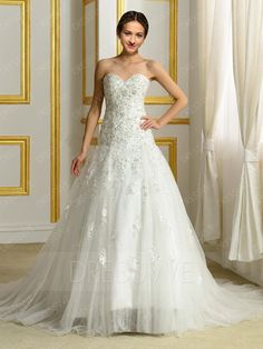 Buy Sweeheart Beading Court Train Wedding Dress  Online, Dresswe.Com offer high quality fashion,Price: USD$207.99