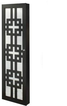 Ebern Designs Degroot Modern Over The Door Jewelry Armoire with Mirror Window Grill Design Modern, House Window Design, Balcony Grill Design, Grill Door Design, Balcony Railing Design, Gate Design, Wall Mounted Jewelry Armoire, Jewelry Wall, Room Partition Designs