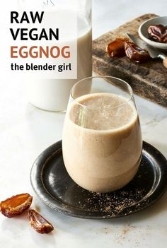 This raw vegan eggnog recipe is sweet and delicious. Spike it if you like with some rum!