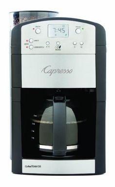 Capresso 464.05 CoffeeTeam GS 10-Cup Digital Coffeemaker with Conical Burr Grinder #capresso #coffee