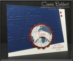 Going Global, globe, world, traveler, Stampin' Up!, #stampinup, created by Connie Babbert, www.inkspiredtreasures.com