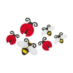 Darice® Felties Stickers - Ladybugs and Bees