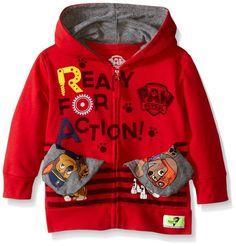 Pocket Frenz® Paw Patrol Toddler Boys Hoodie, Red, 5T